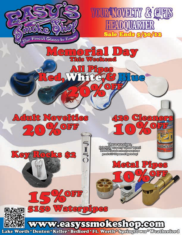 Easy's Smoke Shop 2012 Memorial Day Sale