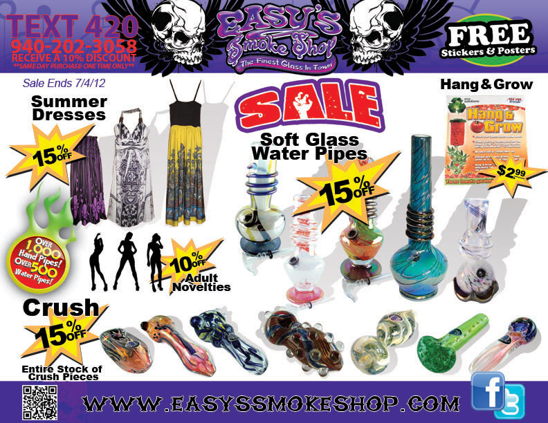 Soft Glass, Crush, Glass Pipes and Adult Novelties