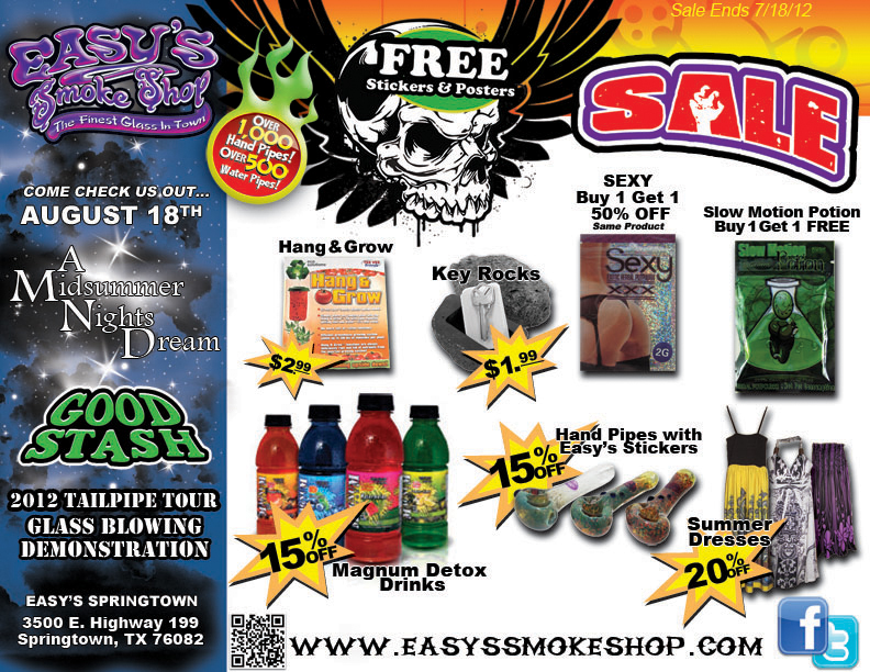 Detox, Glass Pipes and More on Sale at Easy's Smoke Shop