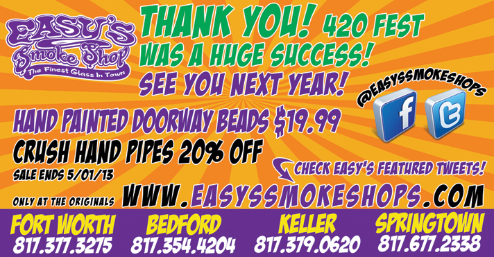 Easy's Smoke Shop Crush Glass