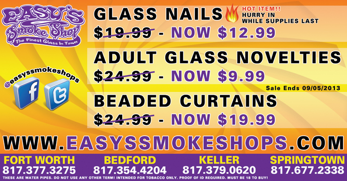 Easy's Smoke Shop Sale