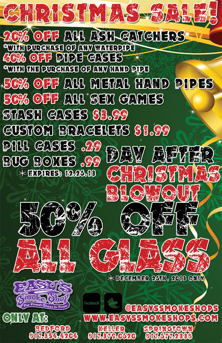 easy's christmas glass sale