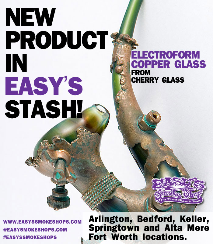 Copper Glass Pipes at Easy's Smoke Shop