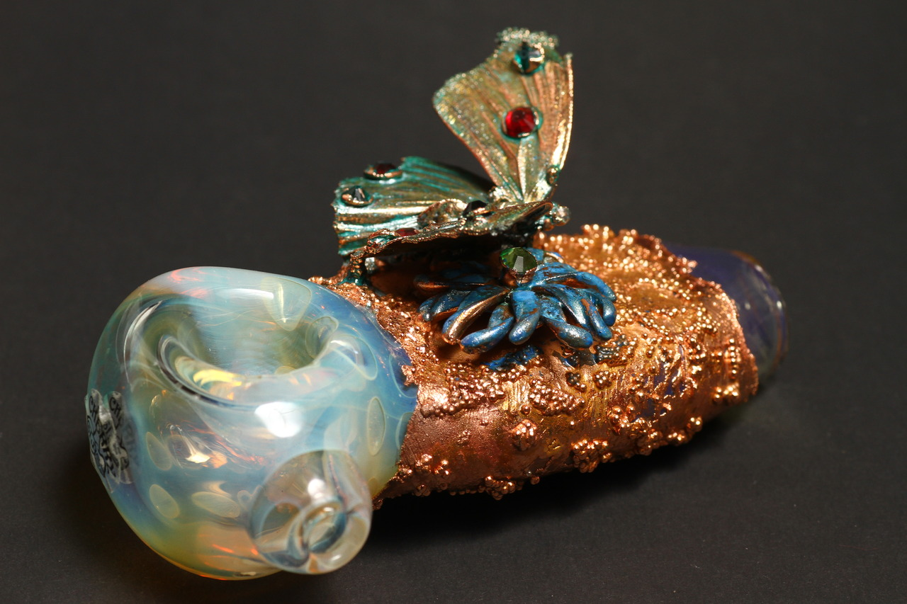 Electroform Copper Glass from Cherry Glass Easy's Smoke Shop