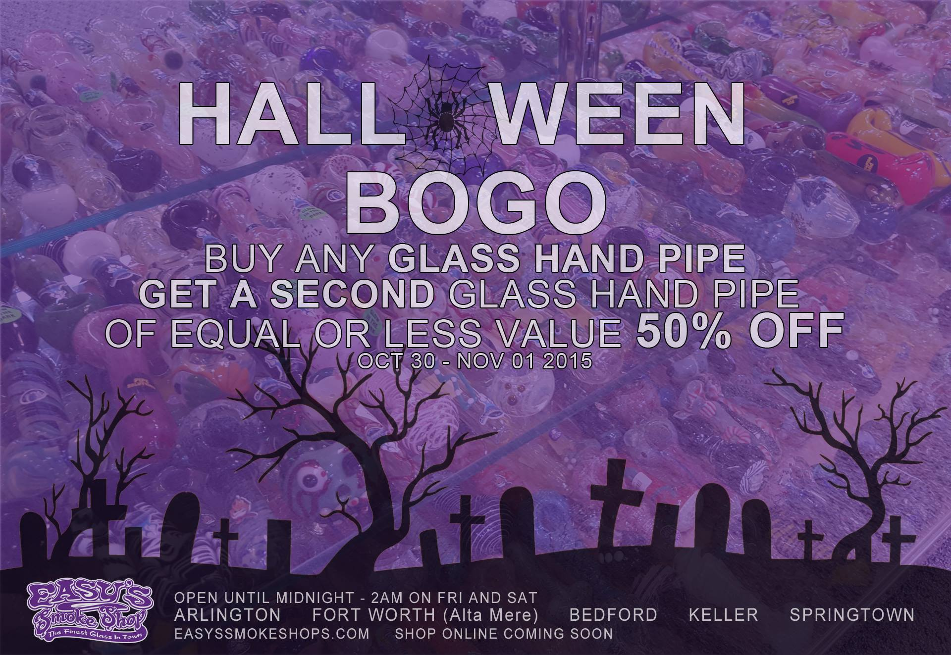 Easy's Smoke Shop Halloween Sale